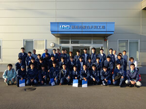 Nagaoka National College of Technology came to the factory tour